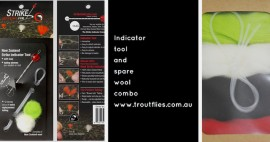 STRIKE INDICATOR TOOL AND SPARE TUBE/WOOL COMBO