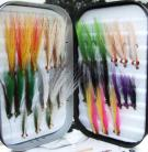 30 Clouser Saltwater flies in a double sided foam Fly Box