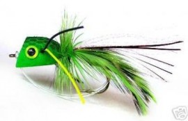 Green Frog Popper Bass Bug