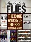 AUSTRALIAN FLIES Book by Rob Flower ,A Box Of 25 Flies Chosen From The Book by Mike Tenner