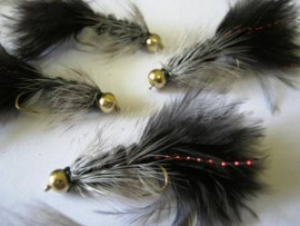 Gold Bead Black Grizzly Bugger