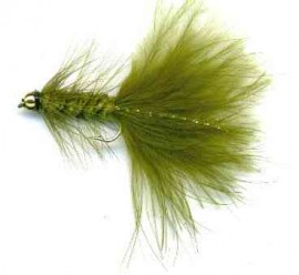 Tungsten Bead Head Olive Wooly Bugger