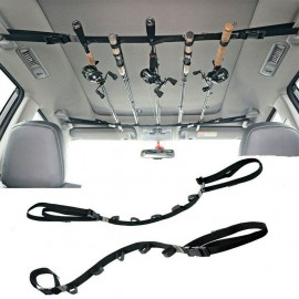 2pcs Fishing Vehicle Rod Carrier Rod Holder Belt Strap With Tie Fishing Rack