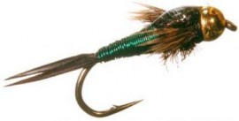 BEAD HEAD COPPER JOHN NYMPH GREEN