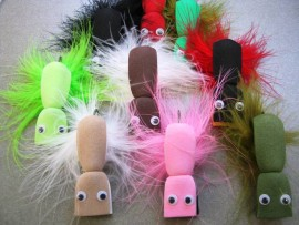 9 Cod Gurgler fly collection