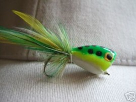 Green And White Frog Popper