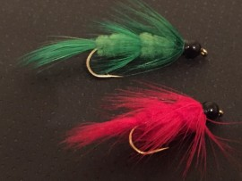 Black Tungsten  Red or Green Fuzzy