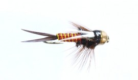 Tungsten Bead Hotwire Prince Nymph Red/Yellow