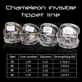 Chameleon Invisible Tippet 50M 2X-5X Fly Fishing Leader/Tippet Material