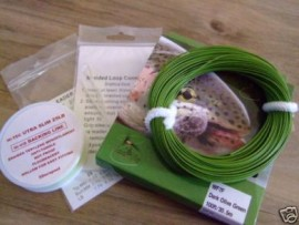 Fly Fishing Floating Line Combo Backing Leader