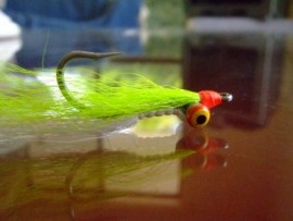 The Ultimate Clouser MK11 Chartreuse/White