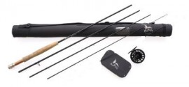 FLY FISHING ROD HI END SALTWATER /FRESH WATER COMBO  9'0 LW6/7, 4sec with a spare tip